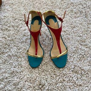 Louboutin - Colorblock Sandals